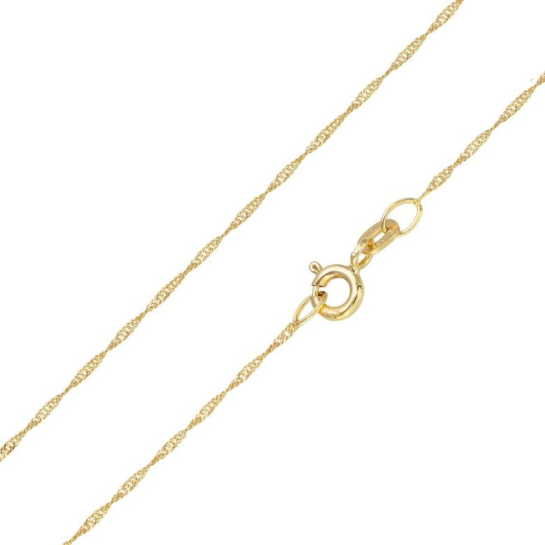 MATERIA Halskette 585 Gold Kette Frauen Mädchen Singapurkette 45 50cm diamantiert Made in Germany #K87_B4