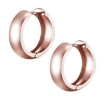 MATERIA Damen Creolen rosegold klein 17mm - breite Ohrringe Silber 925 vergoldet Made in Germany #SO-359