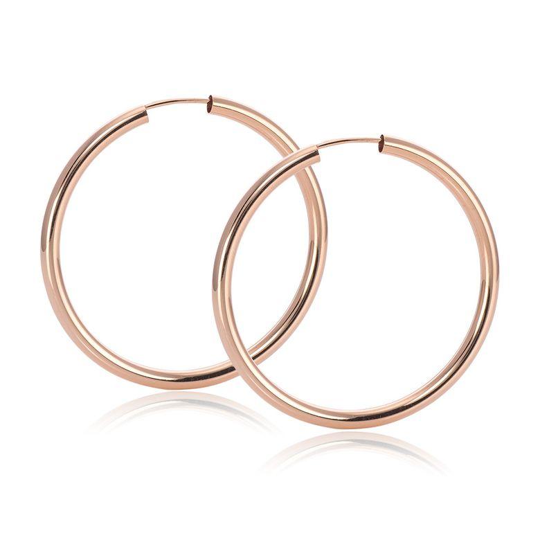 MATERIA Rosegold Creolen Silber 925 35mm Gold Ohrringe Damen Schmuck flexibel in Geschenk-Box #SO-362_B4