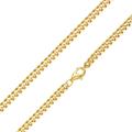 MATERIA Herren Gold Panzerkette 925 Silber vergoldet Kette 4mm  001