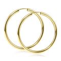 MATERIA Damen Creolen 585 Gold Ohrringe 40mm groß flexibel  001