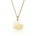 MATERIA Damen Halskette mit Anhänger Gravur Herz Gold 925 Silber  001