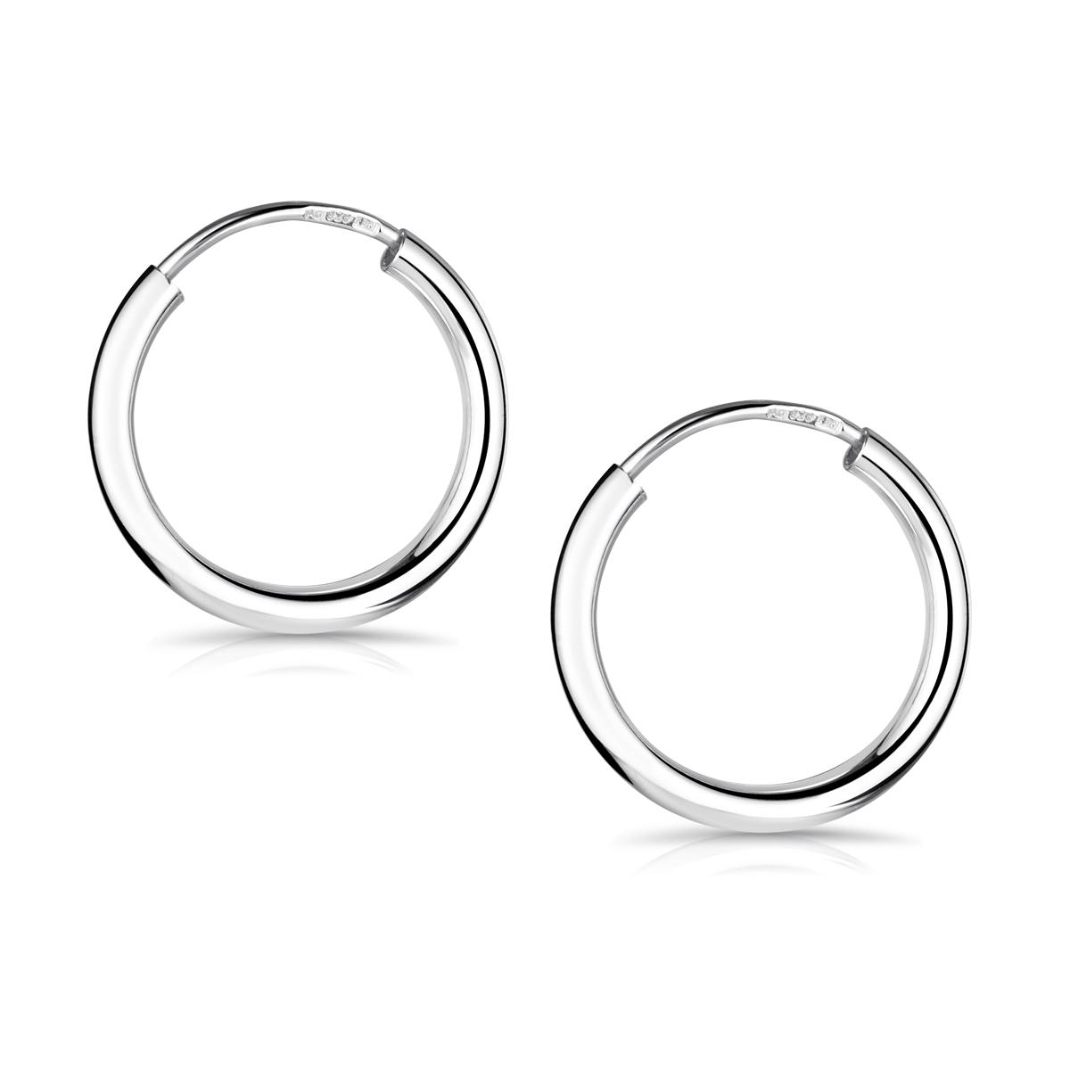 dünn von 8 bis 20 mm Durchmesser schlicht Echt Silber Neu Creolen