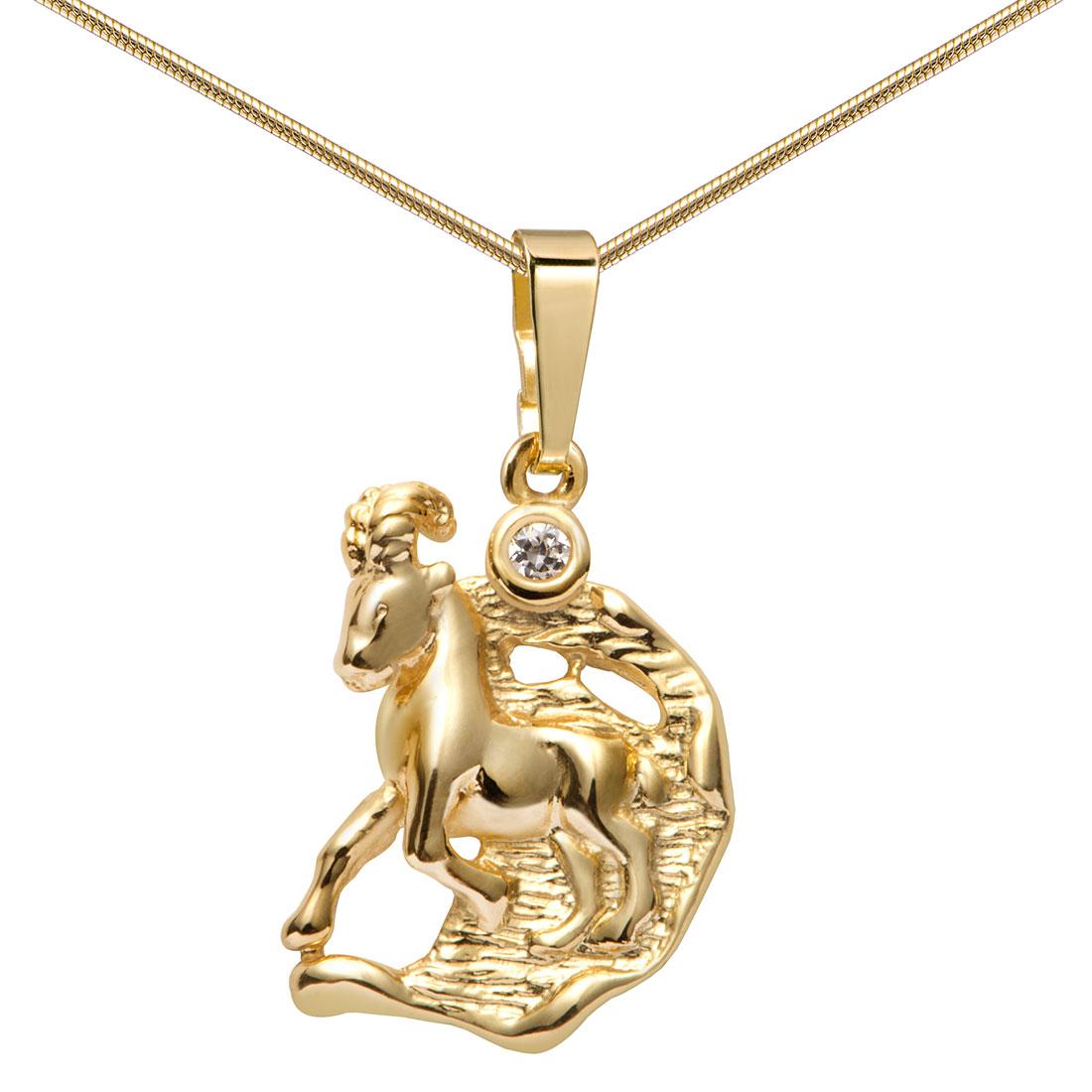 MATERIA Schmuckset 333 Gold Anhänger Sternzeichen 12 Motive