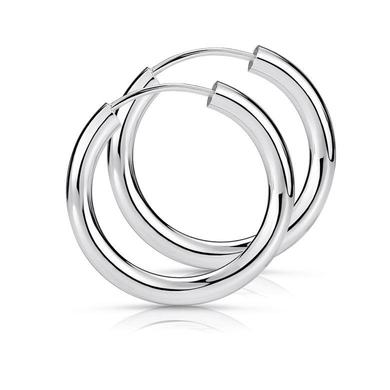 MATERIA 925 Sterling Silber Creolen Ohrringe klein 20mm - 2,5mm Herren Damen Silbercreolen SO-62