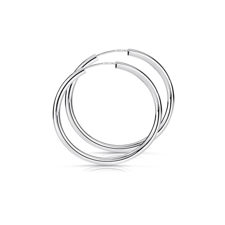 MATERIA Damen Creolen Silber 925 Schmuck - 40mm Ohrringe Ringe 2,5mm dünn nickelfrei in Geschenk-Box SO-91