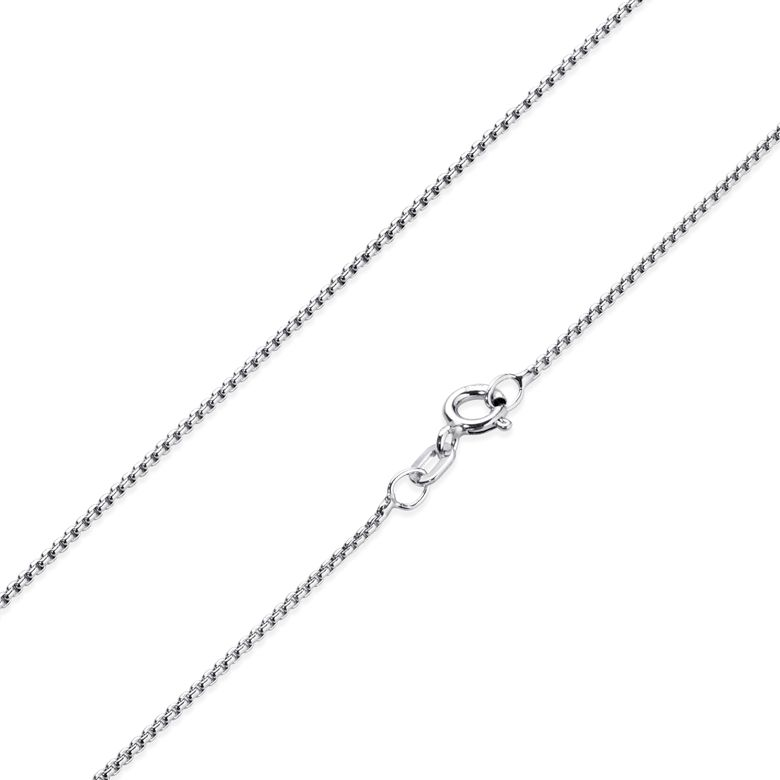 MATERIA 925 Silber Venezianerkette rund gedrückt - 1,2mm Halskette Damen rhodiniert in 40 45 50 55 60 70 cm + Box K102