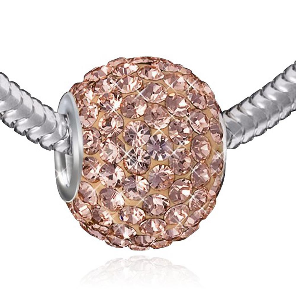 Materia XXL Kristall Beads Kettenanhänger Kugel rosa