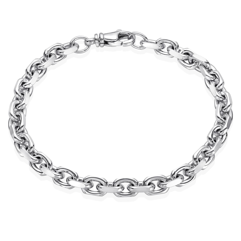 Ankerarmband 925 Silber Maße wählbar Armband Herren Männer Kette Damen Schmuck