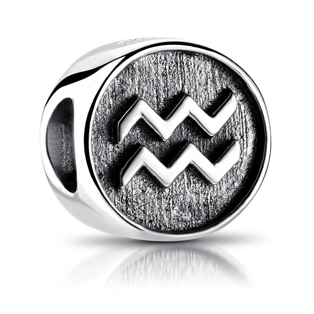 MATERIA Wassermann Sternzeichen Bead Armband Silber 925 Silber