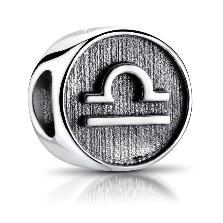 MATERIA Waage Sternzeichen Charm Anhänger 925 Sterling Silber für European Beads Armband Damen Herren 589