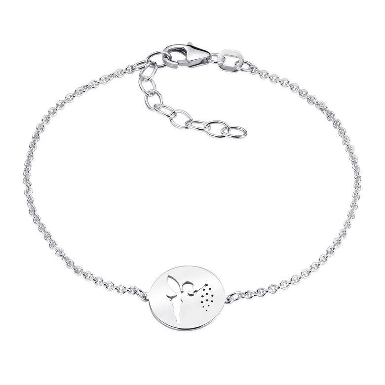 MATERIA Fee Armkette Silber Armband Frauen Mädchen - Feen Schmuck aus 925 Silber rhodiniert 16-19,5cm SA-98-Silber