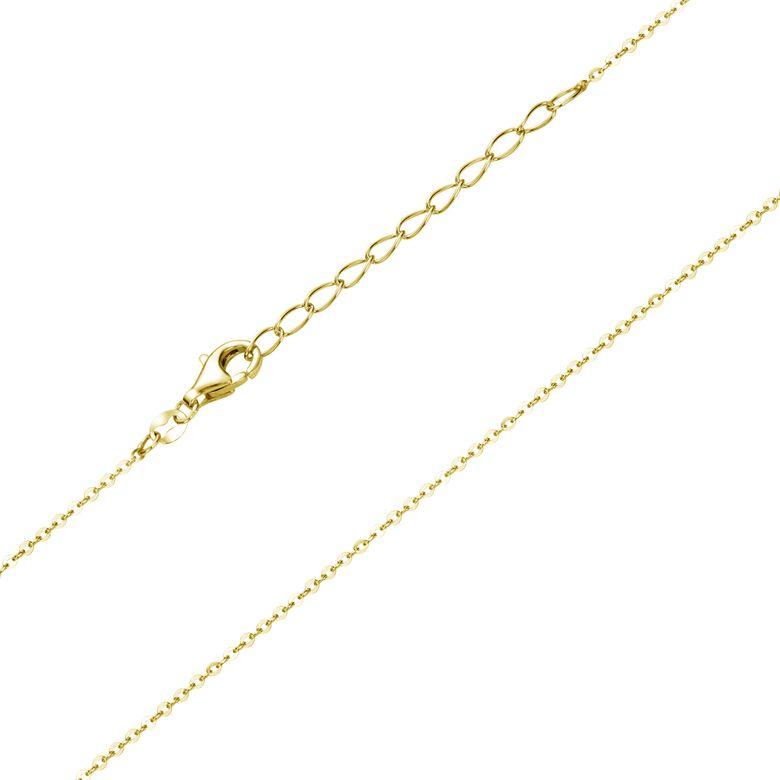Materia Gold Kinderkette Mädchen 1mm - 925 Silber Halskette Kette vergoldet 36-40cm verstellbar K108