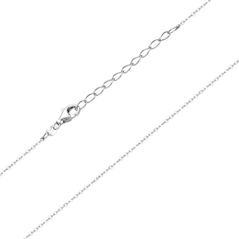 Materia Kinder Kette Mädchen Silber 925 - 1mm Ankerkette rhodiniert 36-40cm verstellbar K109