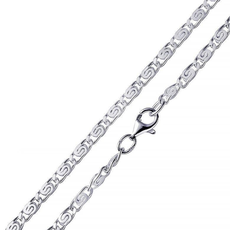 MATERIA S-Panzerkette Silber 925 Kette diamantiert 5mm - Männer Herren Halskette rhodiniert 55 60 70 cm K113
