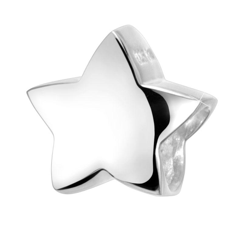MATERIA Damen Beads Anhänger Stern 925 Silber Schmuck Charm rhodiniert für European Beads Armband #746