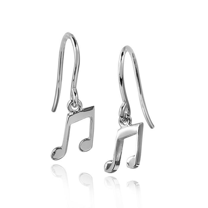 MATERIA Damen Ohrringe Musik Noten 925 Silber hängend inkl. Schmuckbox #SO-2