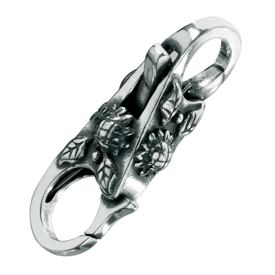 Karabinerverschluss Sonnenblume Schmuck für Beads Armband 925 Silber