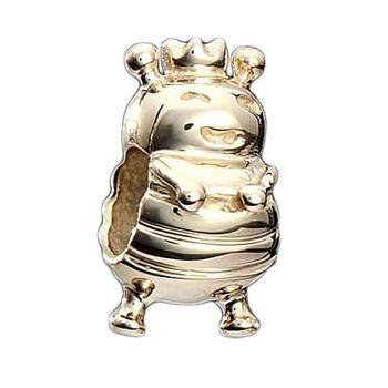 MATERIA Beads Anhänger Bienenkönigin 925 Silber vergoldet inkl. Schmuckbox / Premiumqualität #59