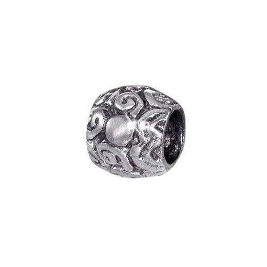 "Mataja Silber Beads Element ""Wirbel"" Bead aus 925 Silber antik"