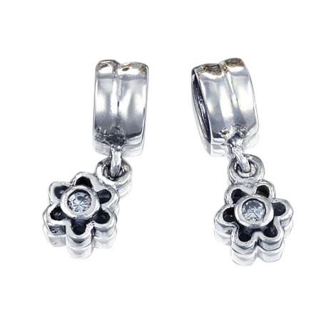 925 Sterling Silber Dangle Bead Element Zirkonia - Beads Modell: #471