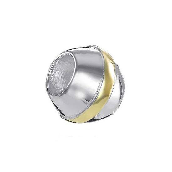 MATERIA 925 Sterling Silber Beads Kugel vergoldet für European Beads Armband #764