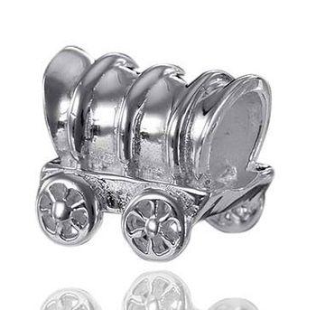 925 Sterling Silber Bead Element Wagen / Treckwagen - Beads Modell: #737