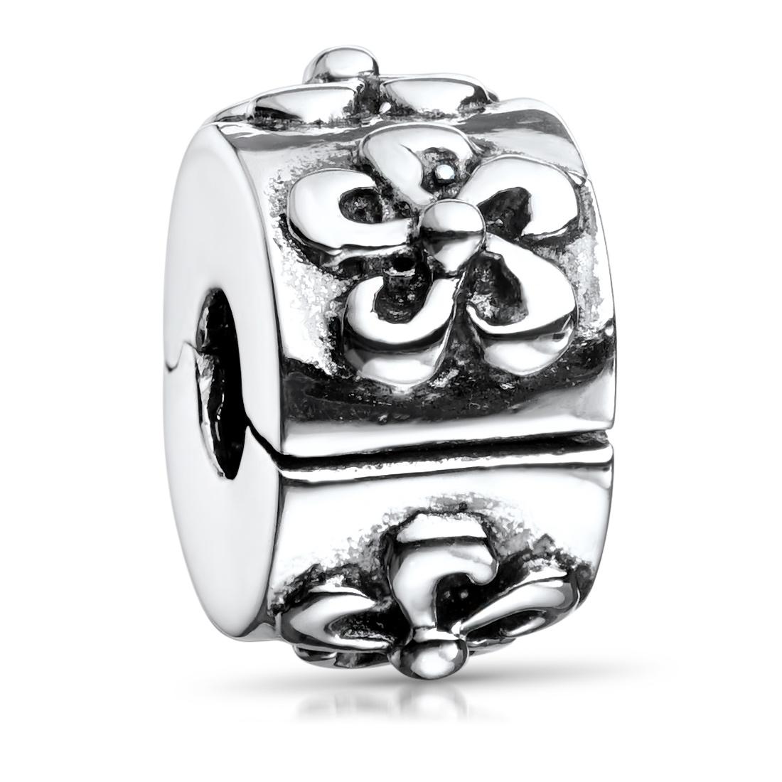 MATERIA Clip Charms Anhänger Silber 925 - antik Beads Perle