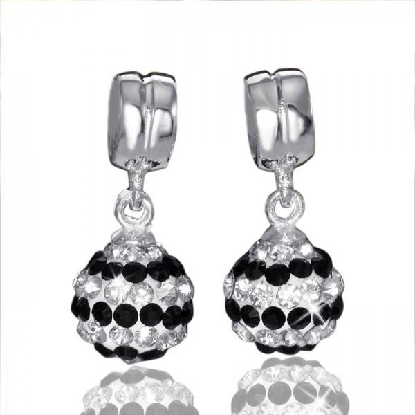 MATERIA Kristall Dangle Beads Anhänger Silber 925