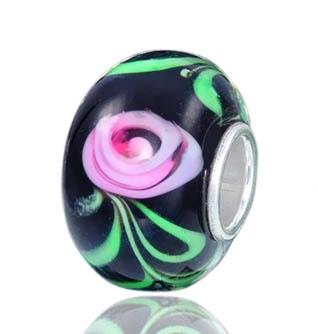 Materia Murano Glas Bead Rose für Armbänder oder Ketten