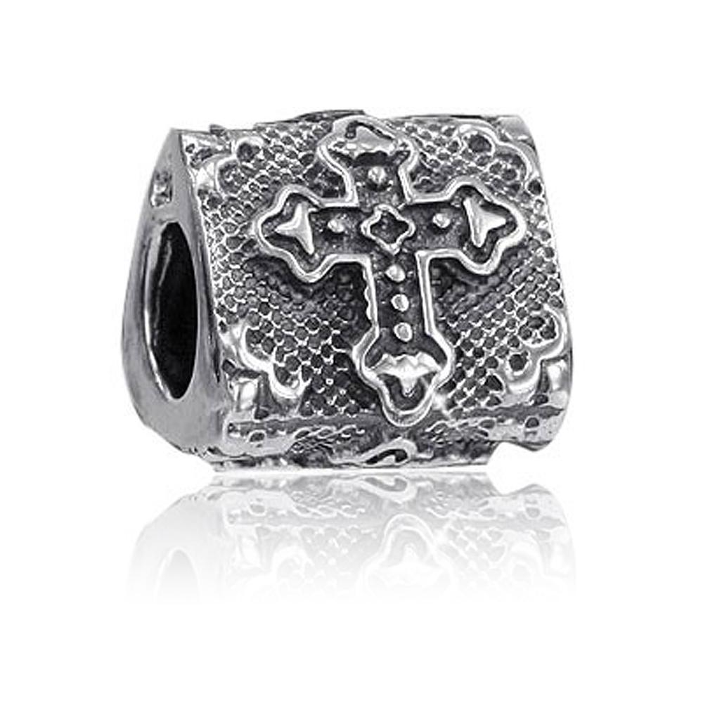 MATERIA Premium Bead Kreuz Religion 925 Silber antik