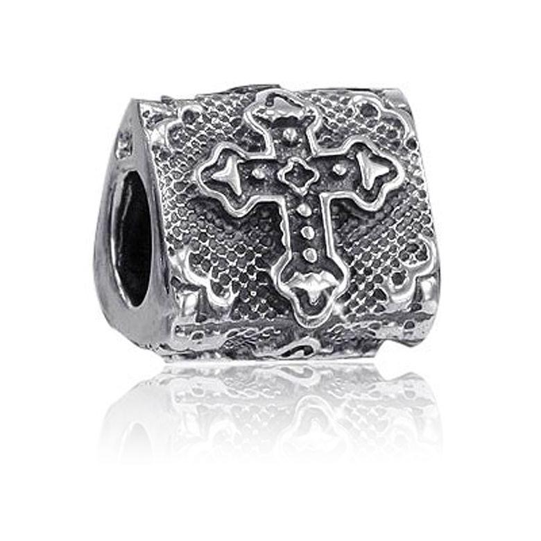 MATERIA Premium Bead Kreuz Religion 925 Silber antik - Schmuck für Beads Armband #893