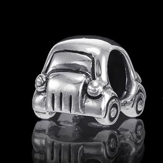 Materia Beads Auto Element 9x8x11mm - European Beads silber Auto Fahrzeug aus 925 Sterling Silber für Beads Armband & Kette #890