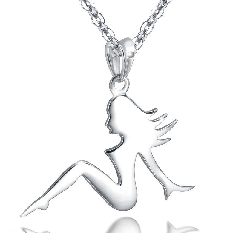 MATERIA Damen Anhänger Jungfrau VIRGO - 925 Silber Kettenanhänger für Halskette inkl. Box #KA-51