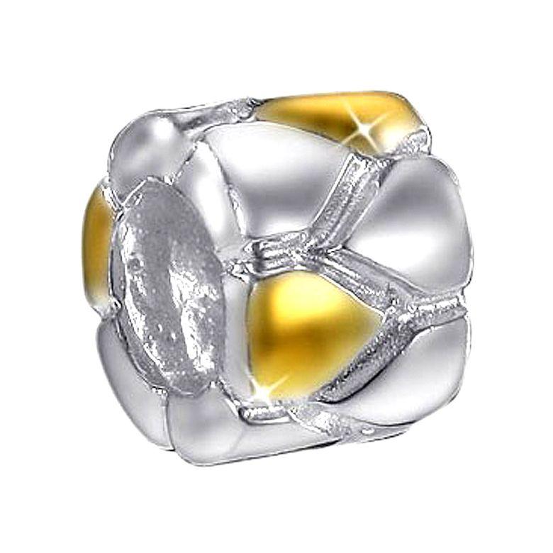 MATERIA Beads Spacer Zwischenelement Pfeil 925 Sterling Silber vergoldet bicolor #783