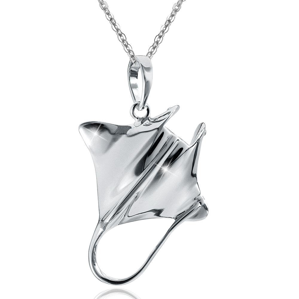 MATERIA Anhänger Stachelrochen 925 Sterling Silber rhodiniert