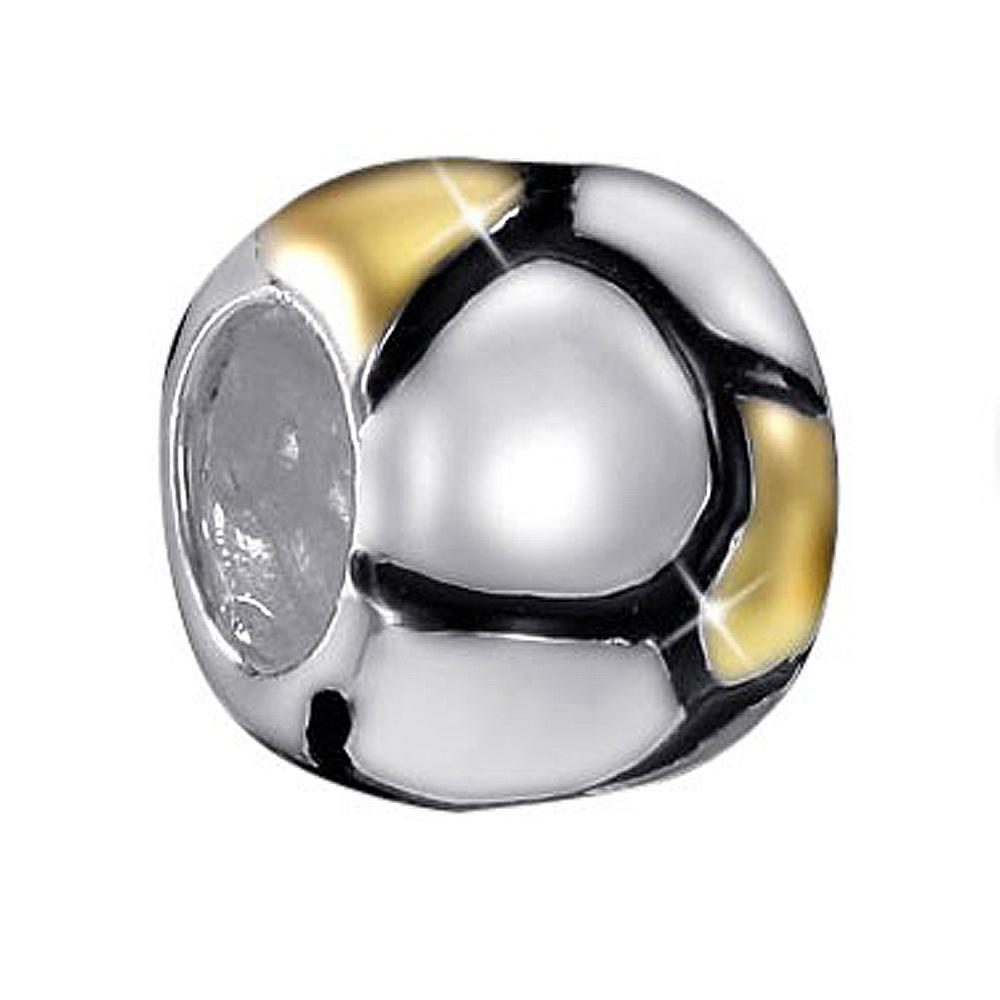 MATERIA Beads Spacer Zwischenelement Kugel 925 Silber bicolor