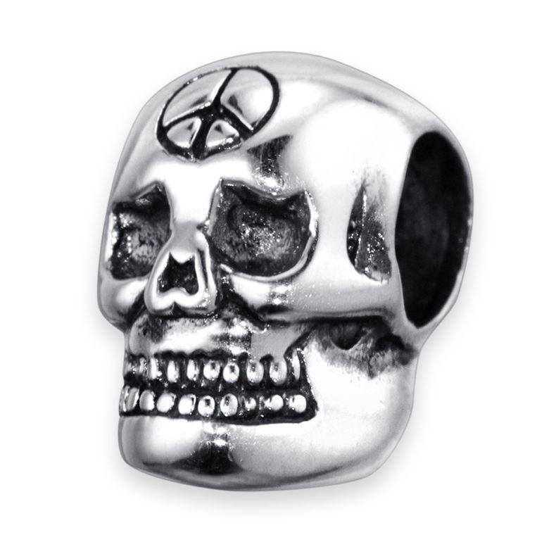 MATERIA Beads Anhänger Totenkopf 925 Silber - Charms Schmuck Skull Schädel Element gothic antik für Armband #1532