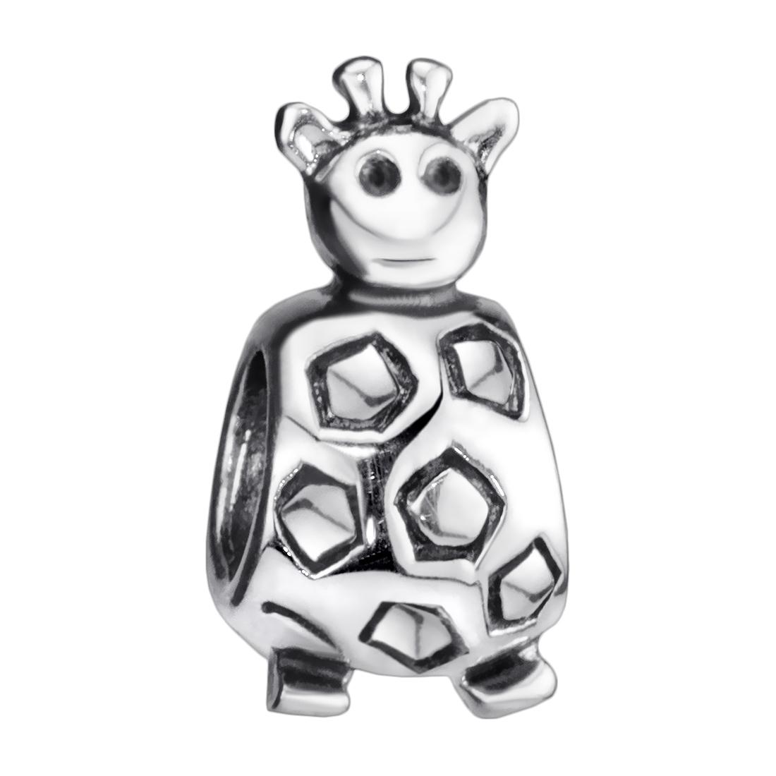 Bead Anhänger Giraffe Damen Kinder 925 Sterling Silber Tier Charm