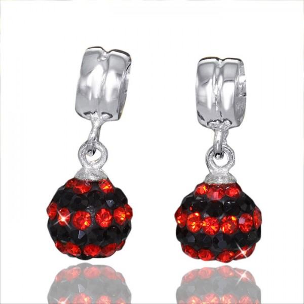 925 Sterling Silber Dangle Kristall Bead Element - Beads Modell: #669