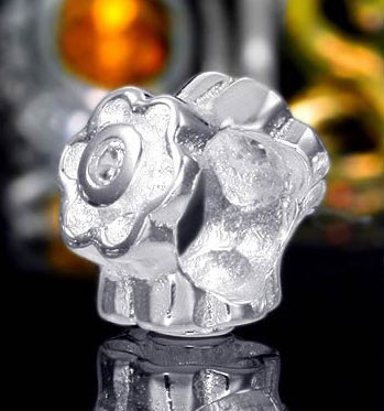 925 Sterling Silber Bead Element Zirkonia Blume - Beads Modell: #372