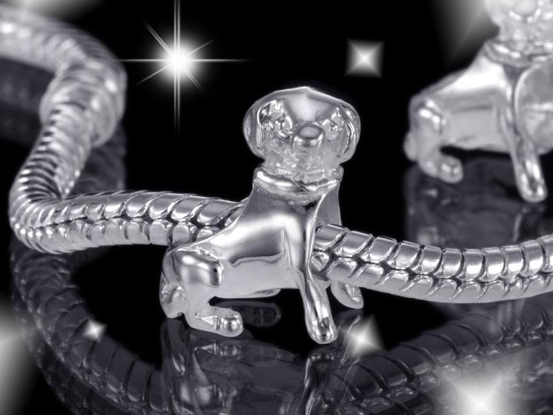 925 Sterling Silber Bead Element Hund Welpe - Beads Modell: #569