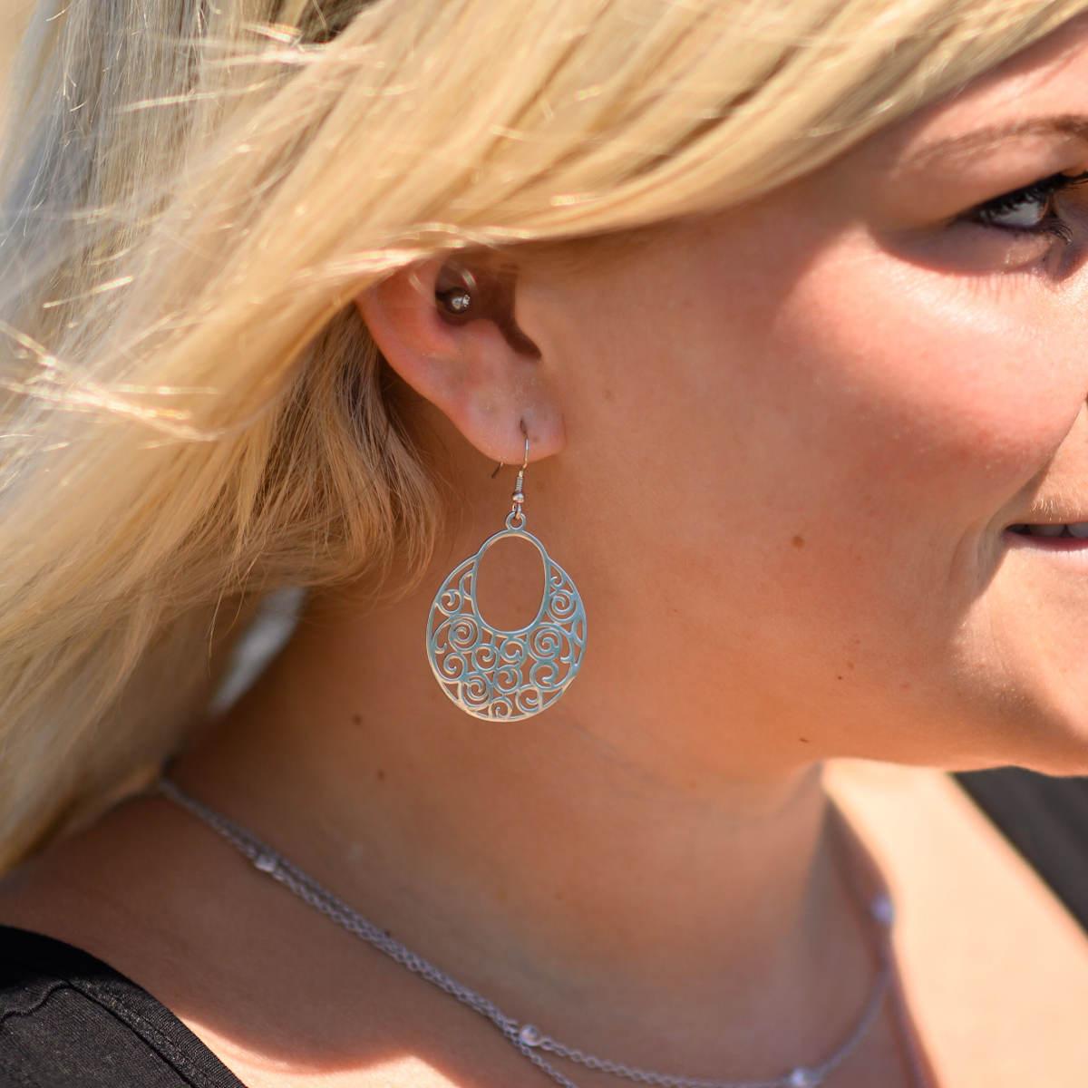 925 ECHT SILBER *** Große Ohrringe Ohrhänger 53 mm