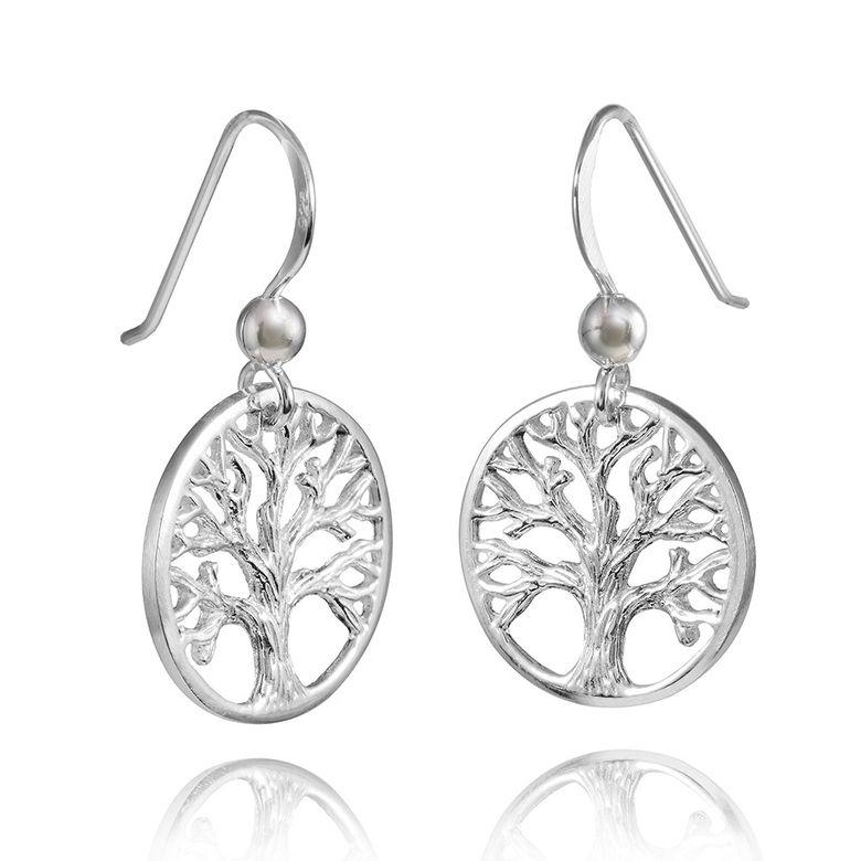 MATERIA Damen Ohrhänger Silber 925 Lebensbaum keltisch Baum des Lebens rhodiniert + Box #SO-99