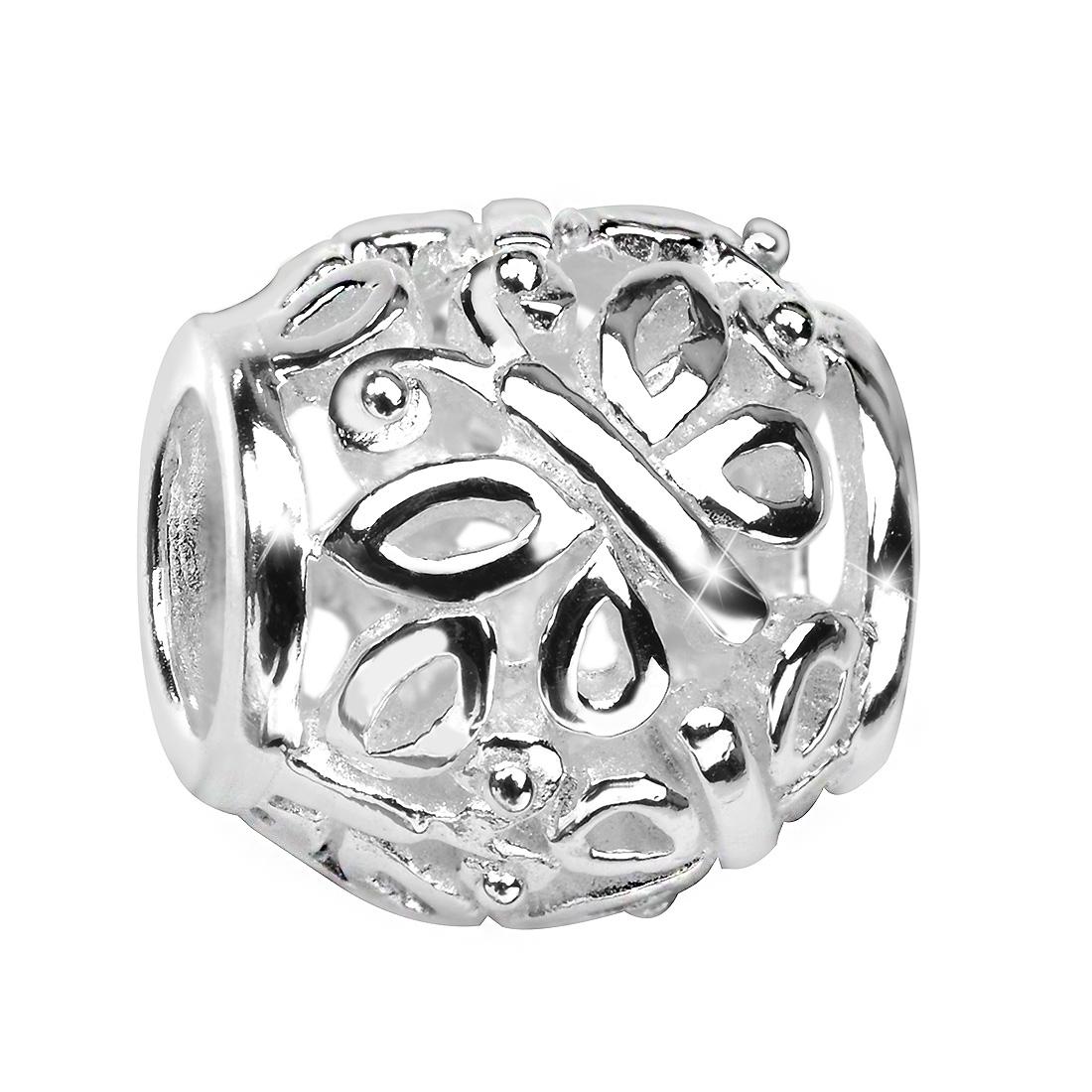 MATERIA Damen Beads Anhänger Schmetterling 925 Silber Charm