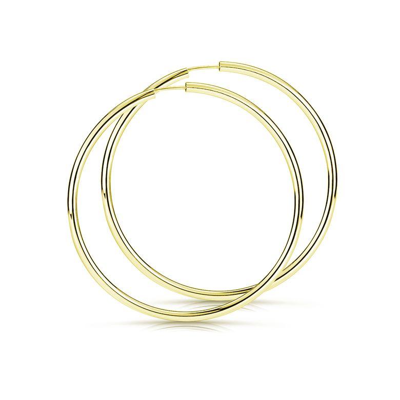 MATERIA Große Creolen 60mm Gold Ohrringe Set - Damenohrringe aus vergoldetem 925 Silber SO-109