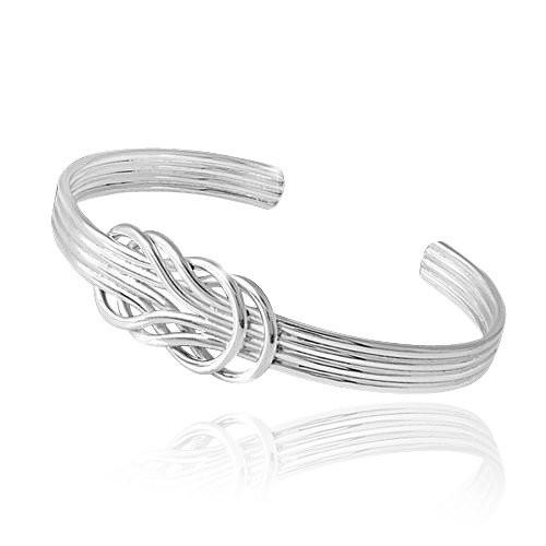 MATERIA Damen Armreif 925 Sterling Silber hochglanz fd586afcd3