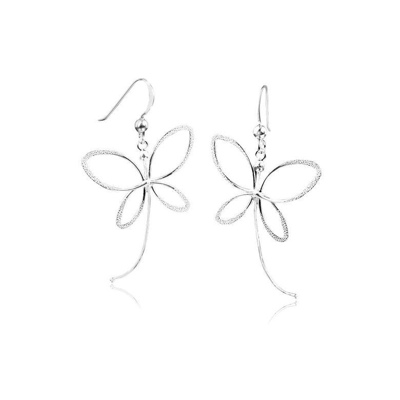 MATERIA Schmetterling Ohrhänger Sterling Silber 925 Damen diamantiert filigran #SO-133
