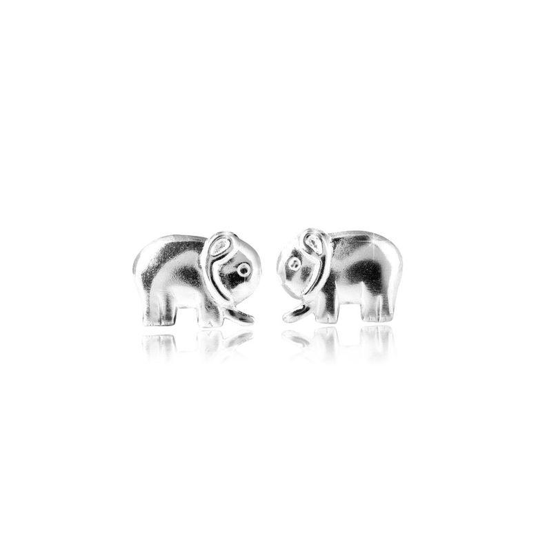 MATERIA Elefanten Ohrstecker Sterling Silber Kinder Ohrringe Tiere mit Schmuckbox #SO-137