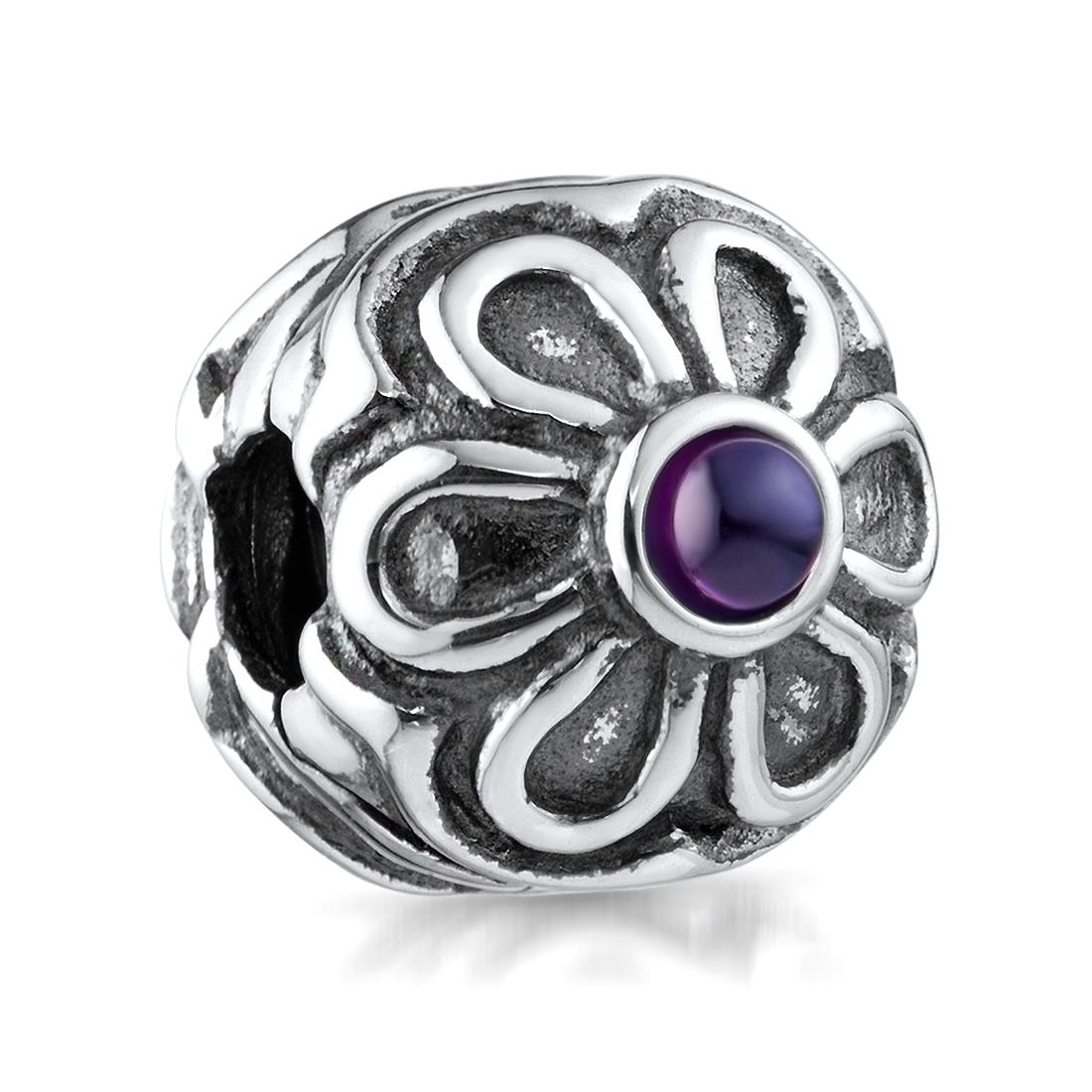 Anhänger CHARMS °  BLUME BLÜTE STRASS ° für Bettelarmband Kette Beads Charm